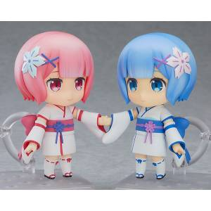 FREE SHIPPING - Re:ZERO -Starting Life in Another World- Ram & Rem: Childhood Ver. Limited Edition [Nendoroid 942]