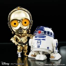 Q Droid Star Wars - C-3PO & R2-D2 memorial plating color ver. Limited Edition [Bandai]