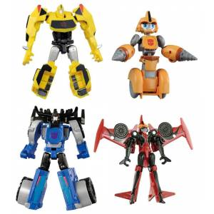 TRANSFORMERS ADVENTURE - TAV48 EZ COLLECTION TEAM BUMBLEBEE & THUNDERHOOF SET