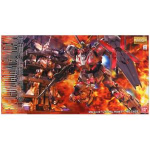 Mobile Suit Gundam Unicorn - Unicorn Gundam HD Color + MS Cage Plastic Model [1/100 MG / Bandai]