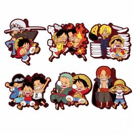 Rubber Mascot Buddy Colle ONE PIECE Luffy Special ! 6 Pack BOX [Goods]