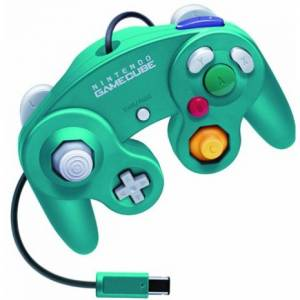 Game Cube Controller - Emerald Blue [NGC - used / loose]