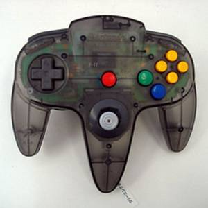 Controller N64 Clear Black (official Nintendo) [used good condition / loose]