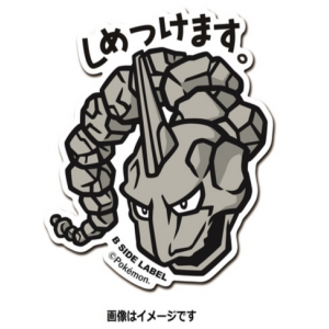 Pokemon x B-SIDE LABEL Sticker - ONIX [Goods]