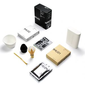 Matcha Deluxe Pack - 3 x 30g + Limited Edition Vessel, Bowl, and All accessories (whisk, holder, spoon) from Material Matcha Uji