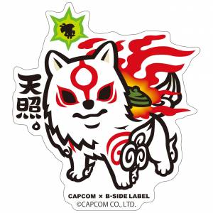 Capcom x B-SIDE LABEL Sticker - Okami Amaterasu Deformed [Goods]