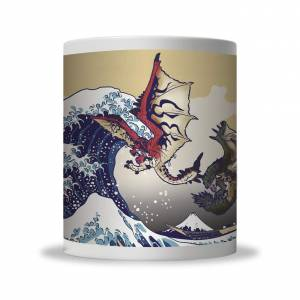 Monster Hunter - Ukiyoe Mug Cup Rathalos & Rathian x Fugaku [Goods]