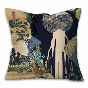Monster Hunter - Ukiyoe Cushion Zinogre x Kisodaki [Goods]